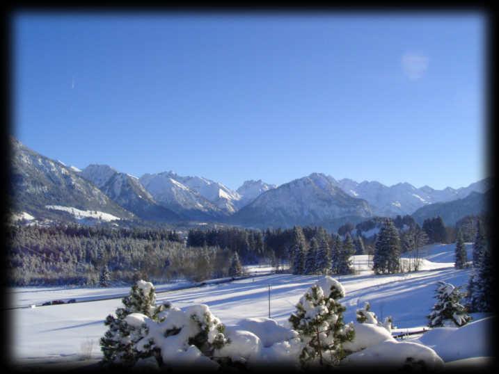 Winterurlaub in einer Ferienwohnung bei Oberstdorf im Gästehaus Berghof Mehlan in Fischen im Allgäu